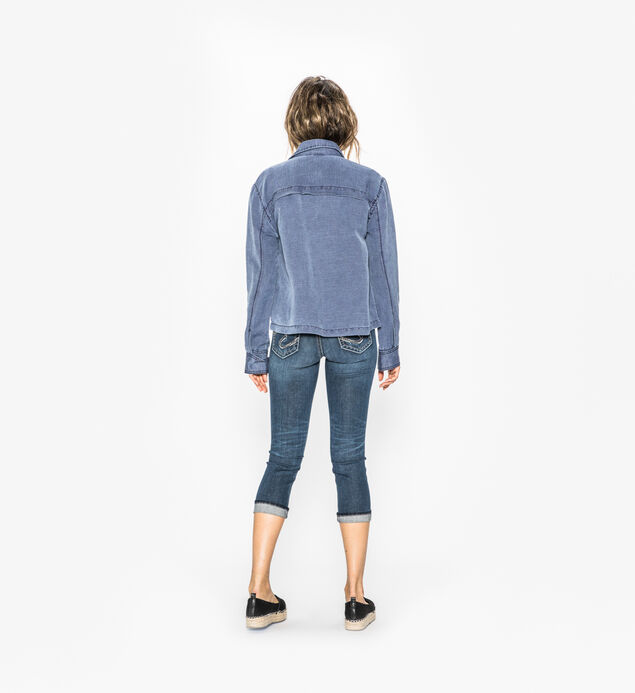 Suki Capri Dark Wash, , hi-res