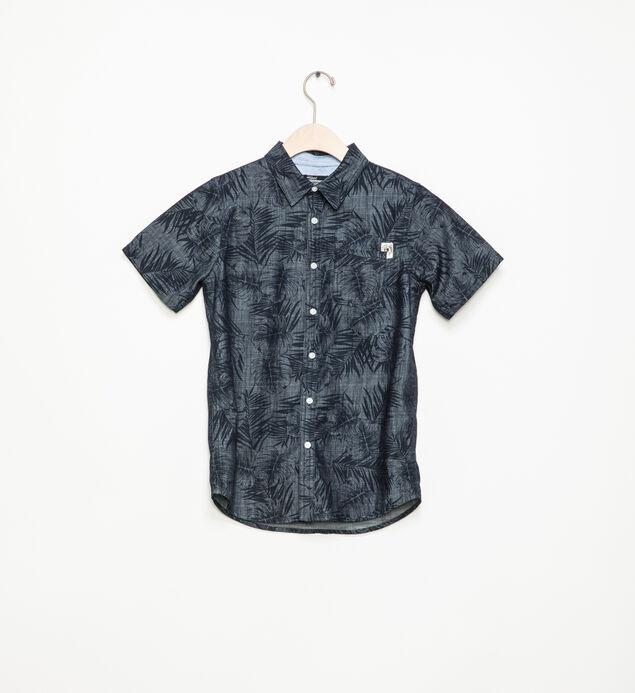 Short-Sleeve Palm Button-Down Shirt (7-16)