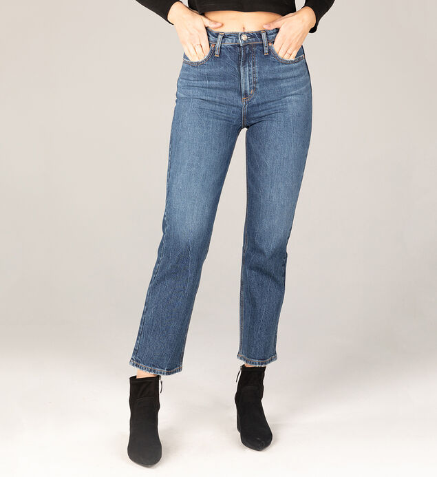 Highly Desirable Super High Rise Straight Leg Jeans - Eco-Friendly Wash