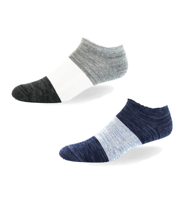Color-Blocked Ankle Mens Socks