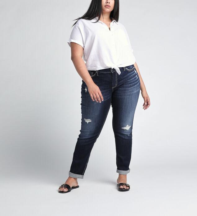 Boyfriend Mid Rise Slim Leg JeansPlus Size