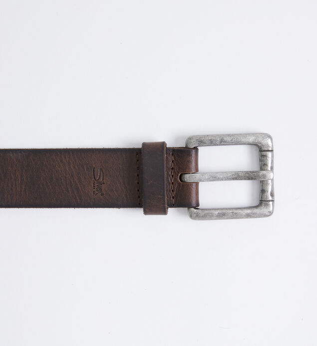 Stitched Leather Mens Belt
