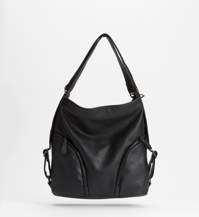 Double-Zip Hobo Bag