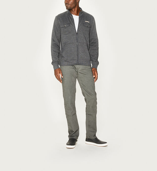 Miles Zip-Front Fleece Jacket