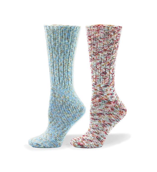 Soft Multicolor Mid-Calf Womens Socks