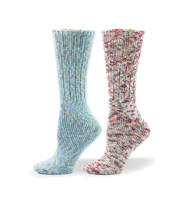 Soft Multicolor Mid-Calf Womens Socks