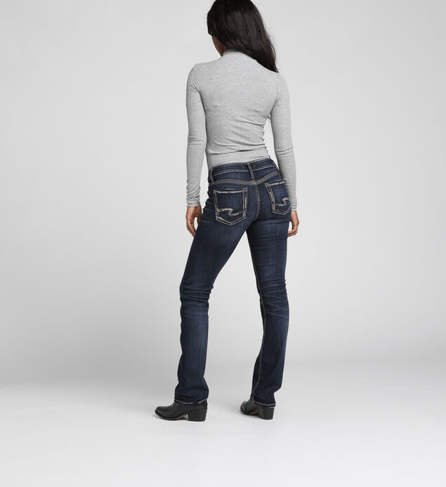 Elyse Mid-Rise Curvy Relaxed Slim Bootcut Jeans, , hi-res