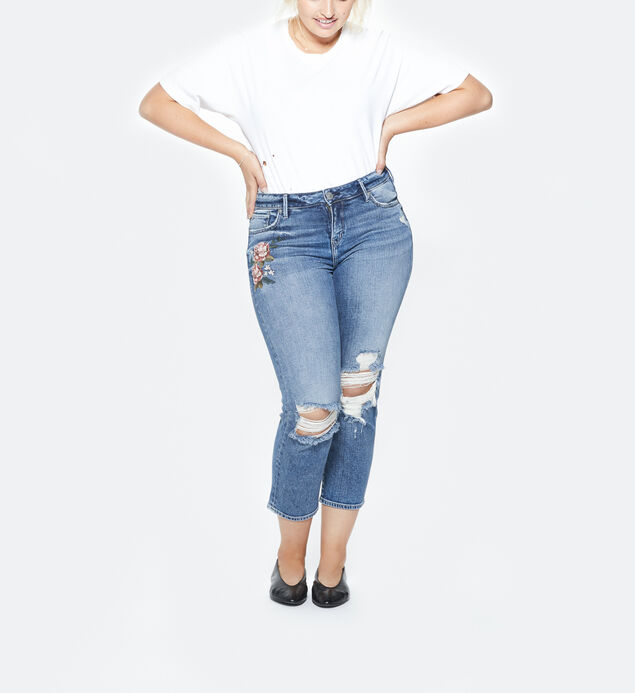 Mazy High Rise Slim Crop Jeans Plus Size