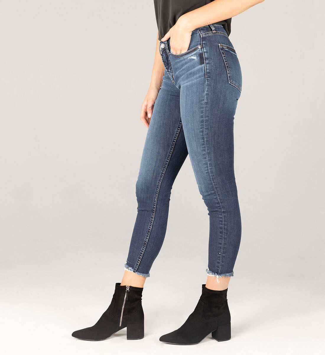 Most Wanted Mid Rise Skinny Jeans Side