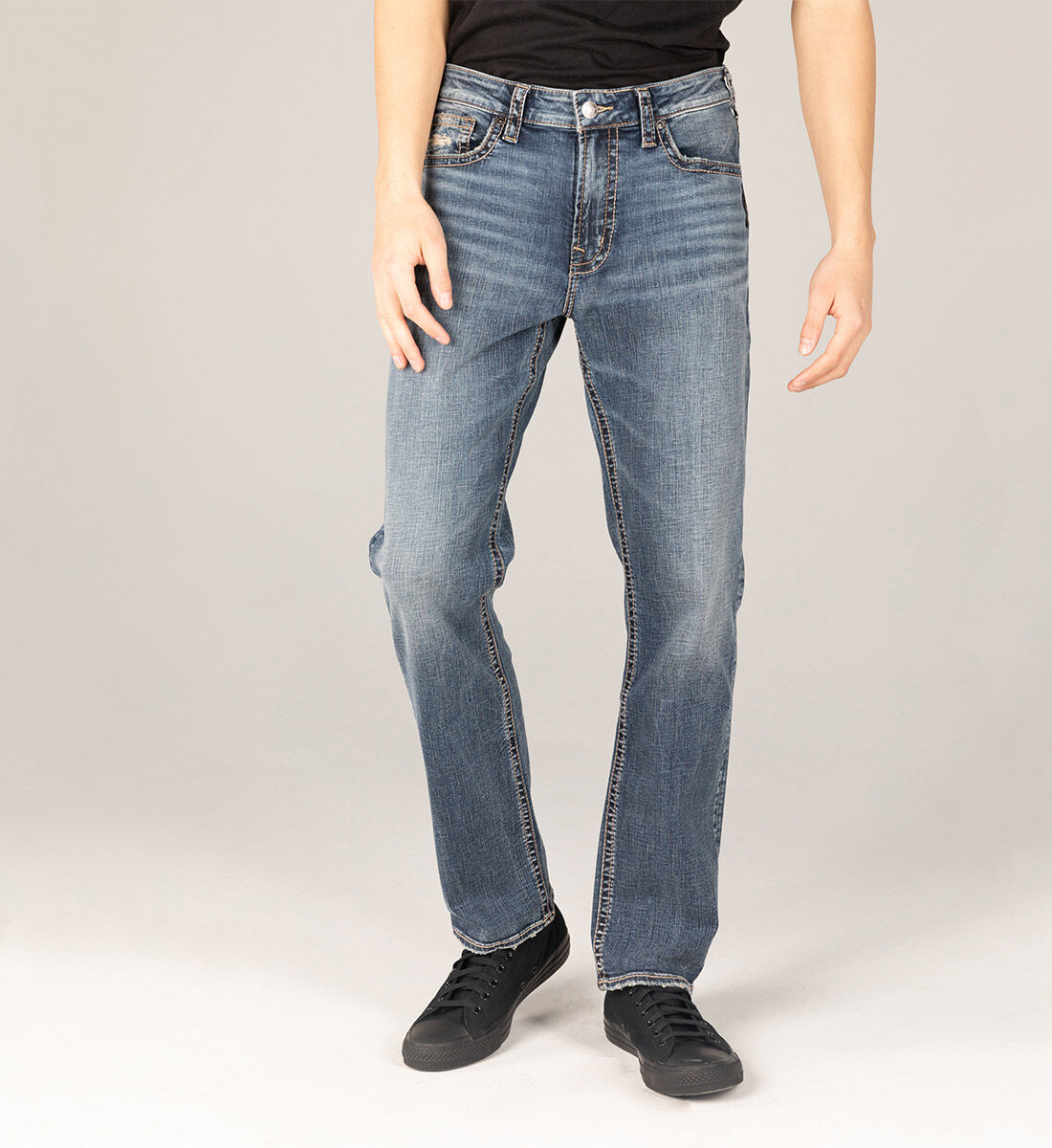 Grayson Easy Fit Straight Leg Jeans Big & Tall Front