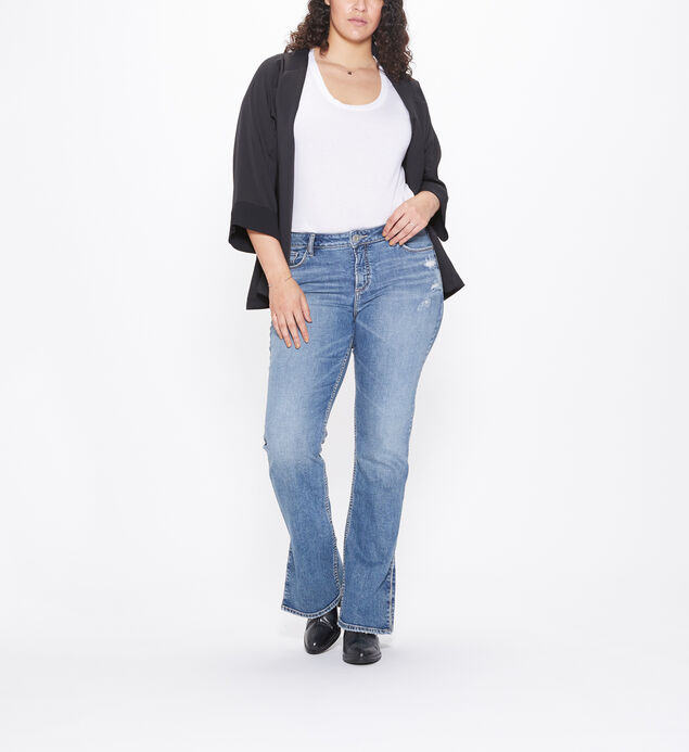 Avery Plus Size Split Hem Slim Boot