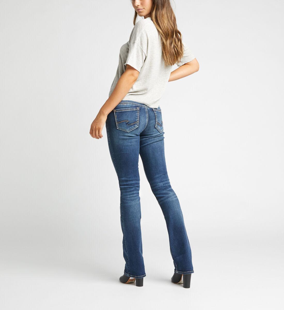 Suki Mid Rise Slim Bootcut Jeans,Indigo Back