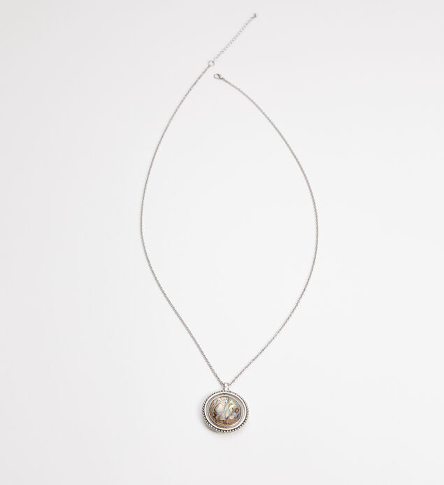 Silver-Tone Spinner Pendant Necklace