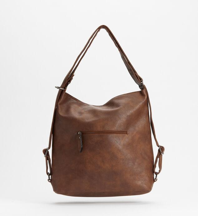 Double-Zip Hobo Bag, Tan, hi-res