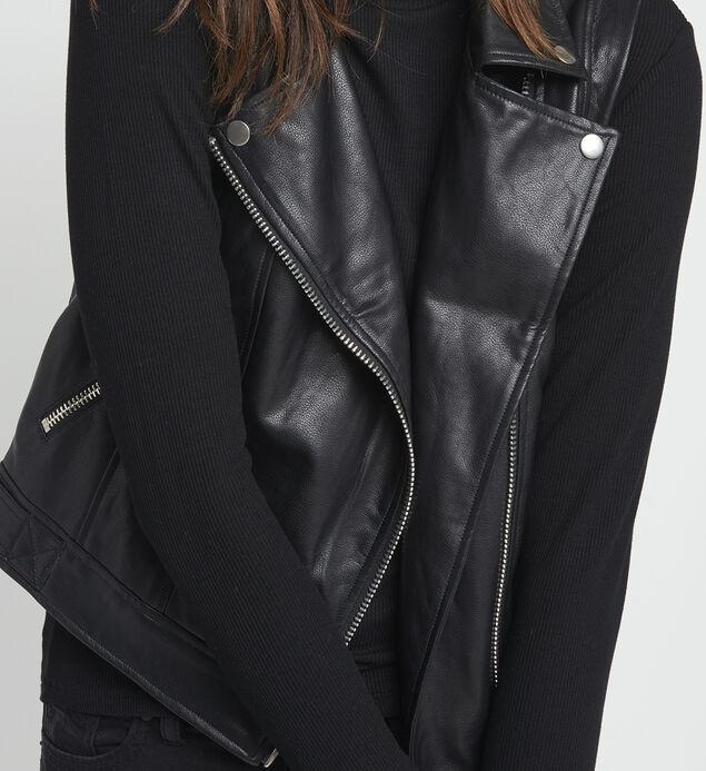 Alex Faux-Leather Vest