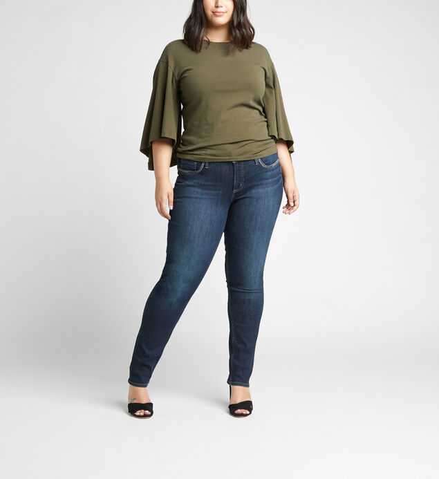 Elyse Mid Rise Straight Jeans Plus Size