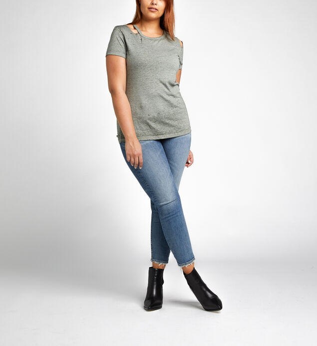Alexis Roar & Roll Shredded Tee, Khaki, hi-res