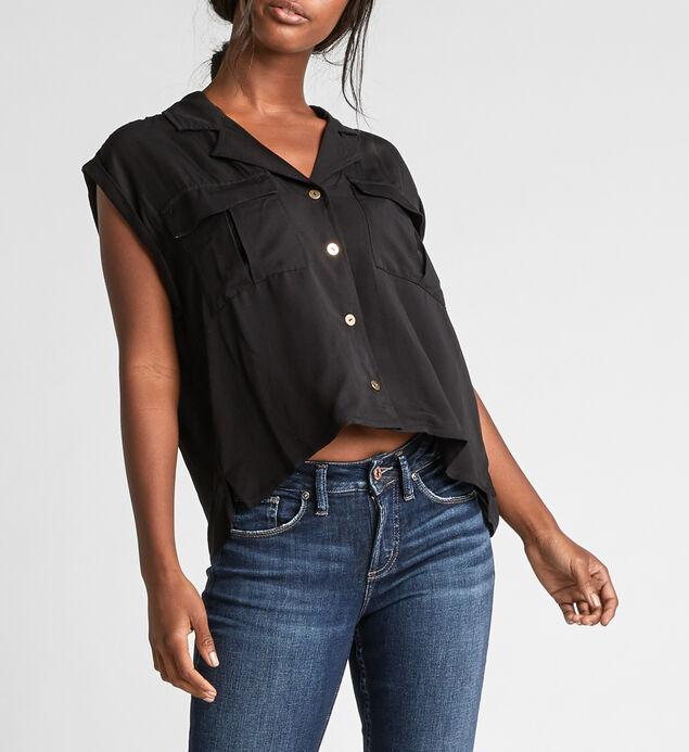 Salem Utility Crop Button-Down Shirt