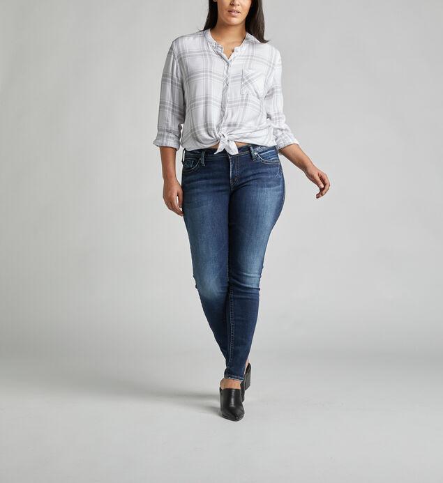 Suki Mid Rise Super Skinny Jeans Plus Size
