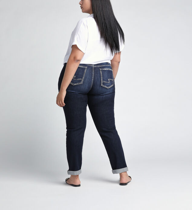 Boyfriend Mid Rise Slim Leg JeansPlus Size, , hi-res