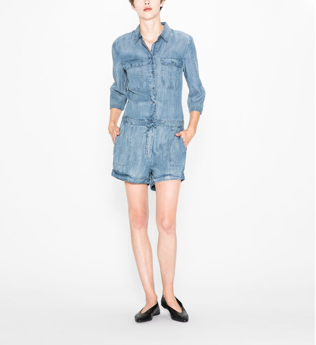 Shea - Denim Romper
