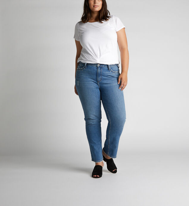 Frisco High Rise Straight Leg Jeans Plus Size