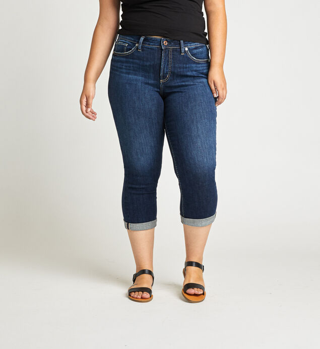 Avery High Rise Capri Plus Size
