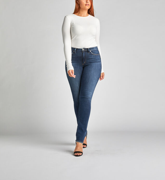 Calley Super High Rise Straight Leg Jeans
