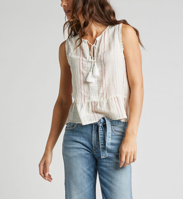 Starla Striped Peasant Top