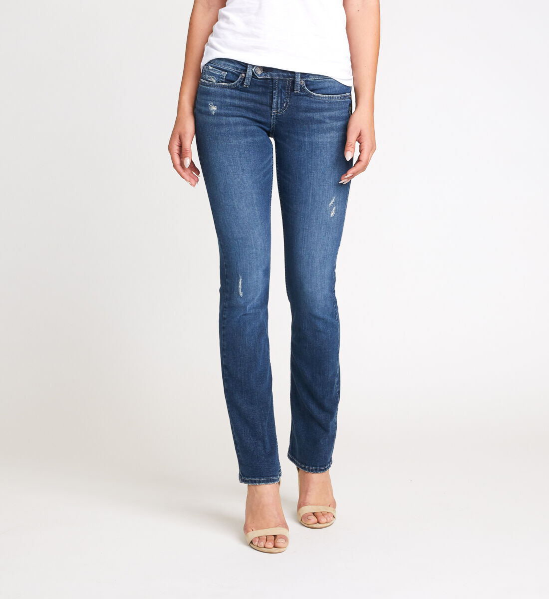 Tuesday Low Rise Slim Bootcut Jeans Front