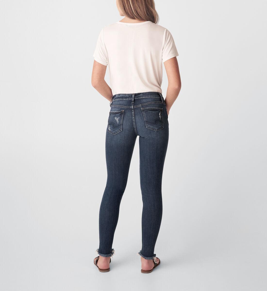 Suki Mid Rise Skinny Jeans Back