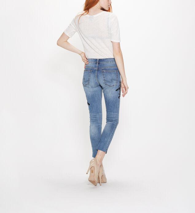 Girlfriend Mid Rise Skinny Leg Jeans, , hi-res