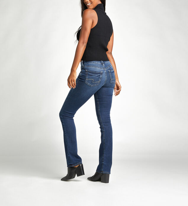 Aiko Mid Rise Slim Bootcut Jeans, , hi-res