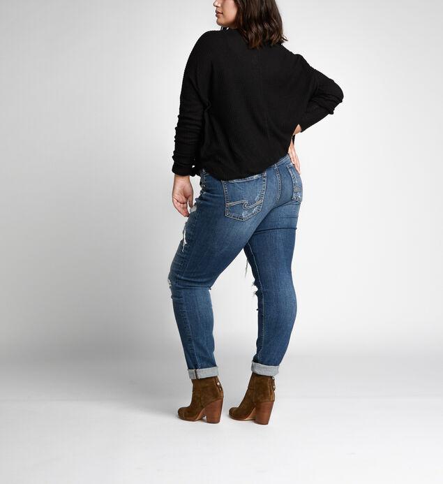 af5dc267c71 Boyfriend Mid Rise Slim Leg Jeans Plus Size
