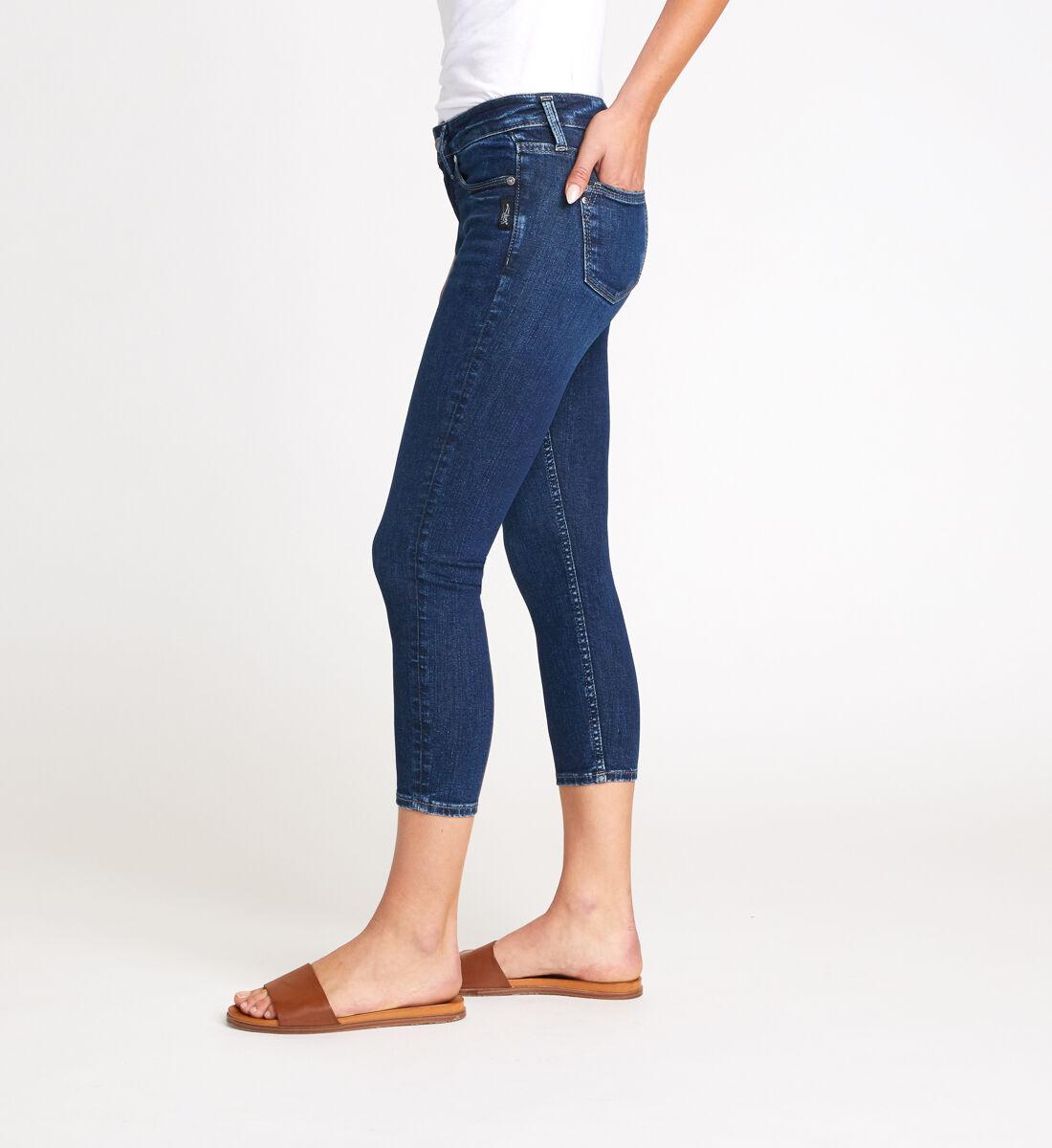 Suki Mid Rise Skinny Crop Jeans Side