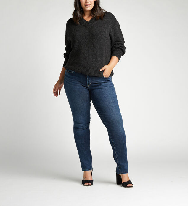 Elyse Mid Rise Slim Leg Plus Size Jeans