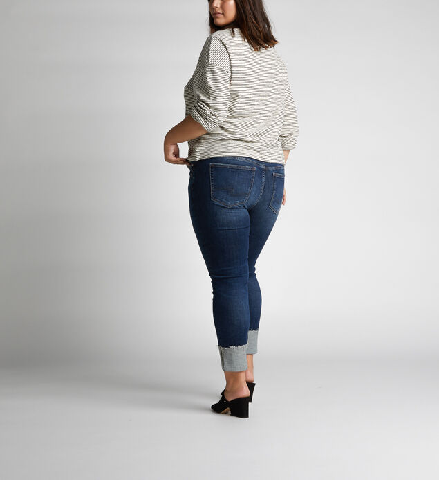 Elyse Mid-Rise Curvy Relaxed Slim-Leg Jeans, , hi-res