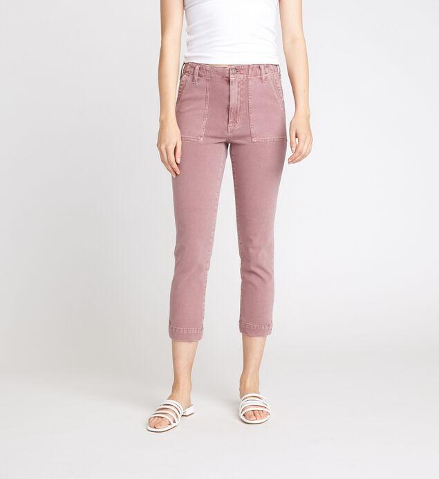 Utility Mid Rise Slim Crop Pants