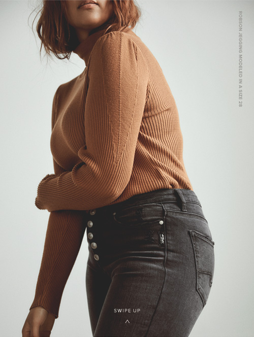Robson Jegging modeled in a size 28
