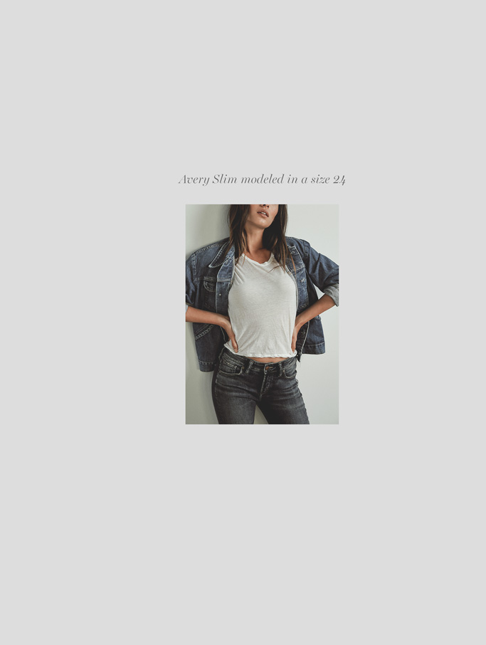 Silver Jeans Co. - Avery Slim modeled in a size 24 - Shop Avery