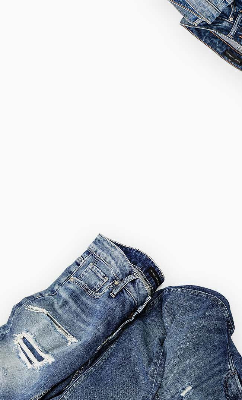 Silver Jeans Co.- images of vintage wash denim