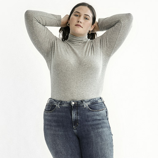 Image of Female wearing Silver Jeans Co. Womens Plus Size styles