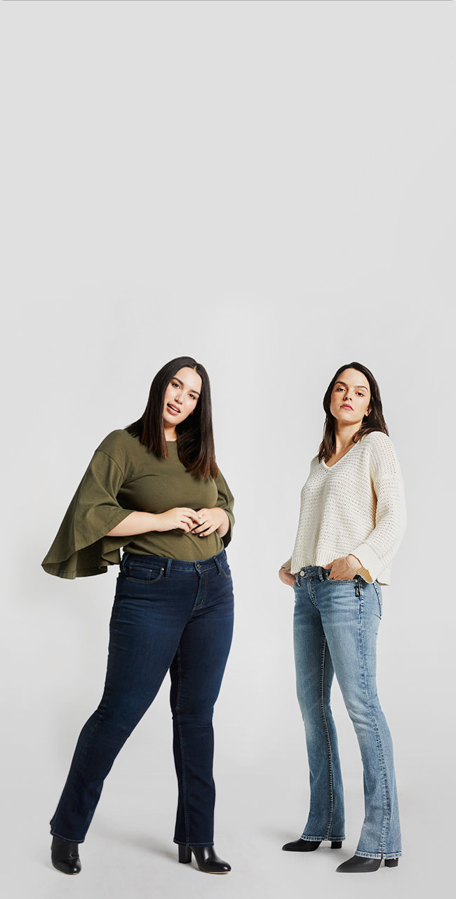 Silver Jeans Co.- Image of two females wearing bootcut styles
