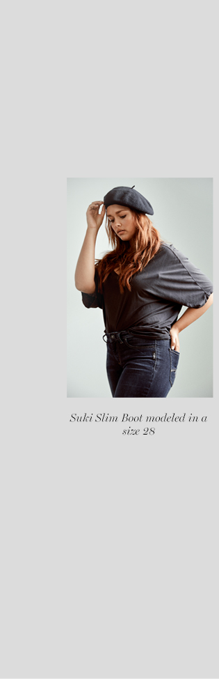 Silver Jeans Co. - Suki Slim Boot modeled in a size 28