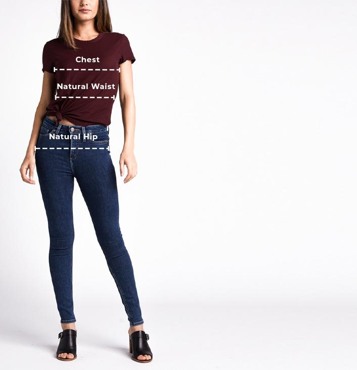 Women's Curvy Fit Size Chart