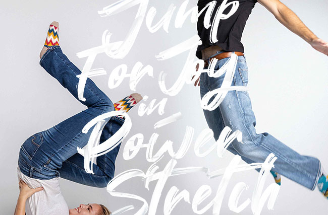 Jump for joy in power stretch