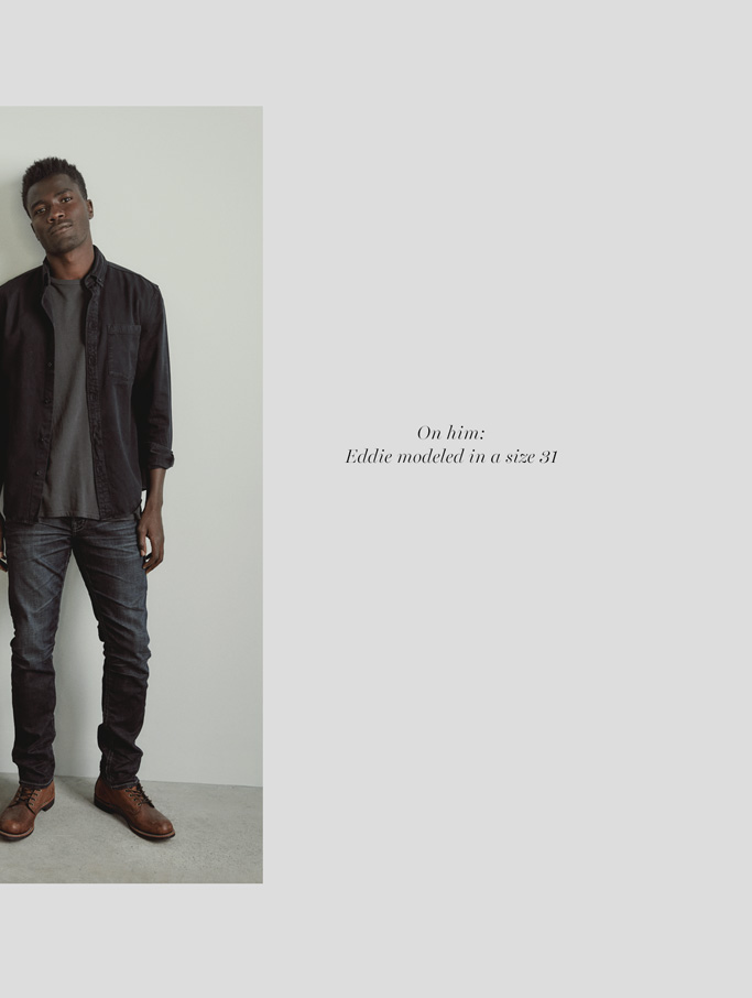 Silver Jeans Co. - On him: Eddie modeled in a size 31