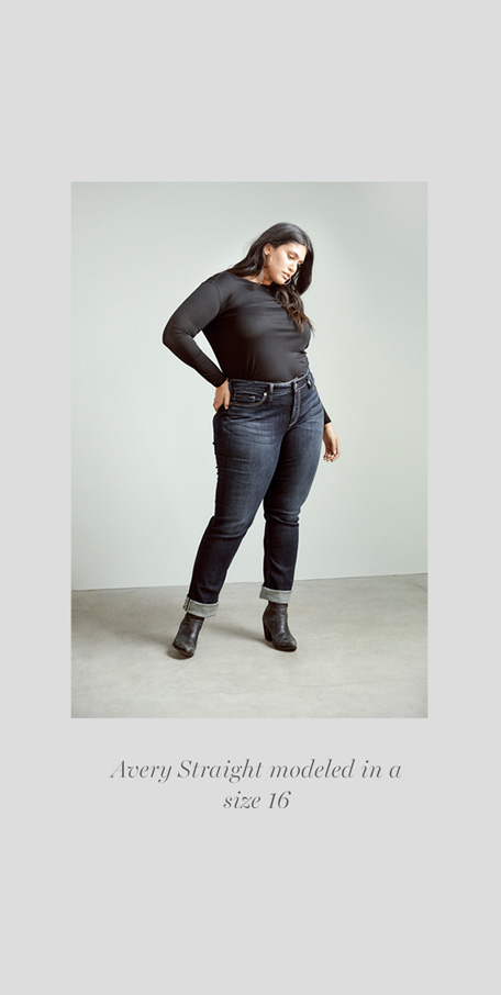 Silver Jeans Co. - Avery Straight modeled in a size 16