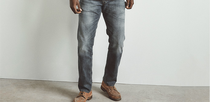 Silver Jeans Co. - Allan modeled in a size 31