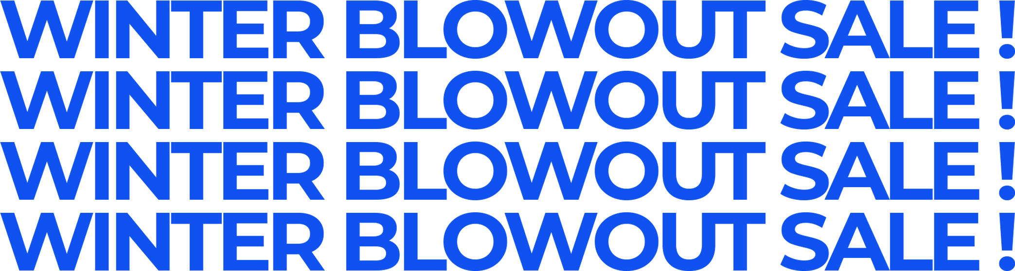 Winter Blowout Sale!